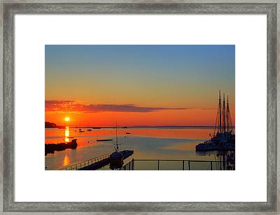 Solstice Sunrise In Rockland Maine Framed Print by Tim Sullivan