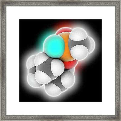 Soman Molecule Framed Print by Laguna Design
