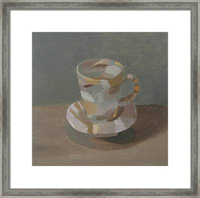 Sombre Cup Framed Print by Mary Mabbutt