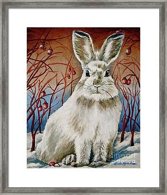 Some Bunny Is Charming Framed Print by Linda Simon