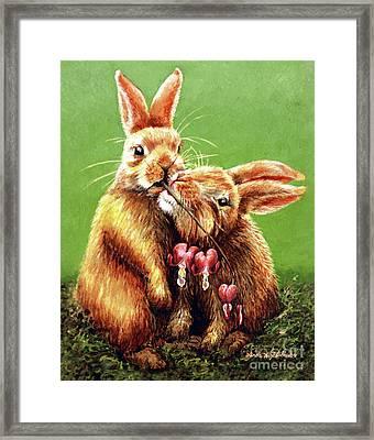 Some Bunny Loves You Framed Print by Linda Simon