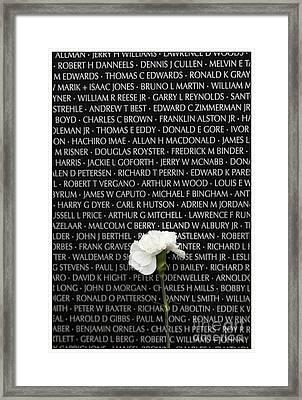 Some Gave All - Vietnam Veterans Memorial Framed Print by Edward Fielding