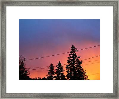 Somebody Told Me God Is A Painter Framed Print by Suzanne Perry