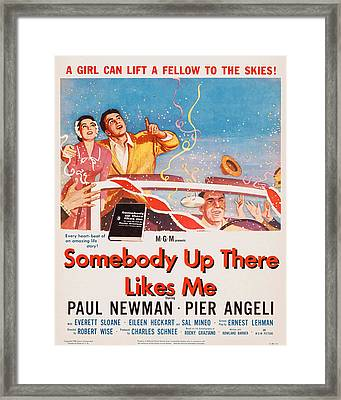 Somebody Up There Likes Me, Us Poster Framed Print by Everett
