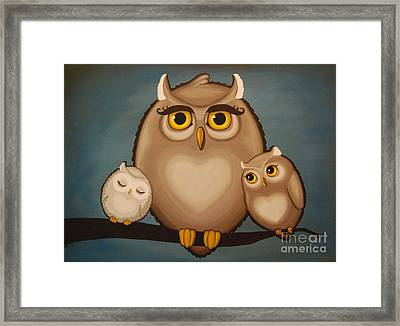 Someday I'll Be As Wise As Mommy Framed Print by Rebecca Mott