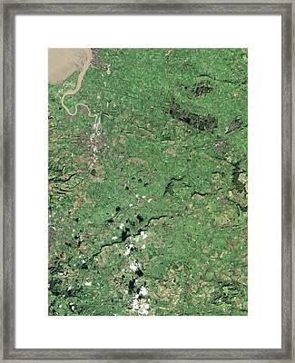 Somerset Levels Framed Print by Nasa