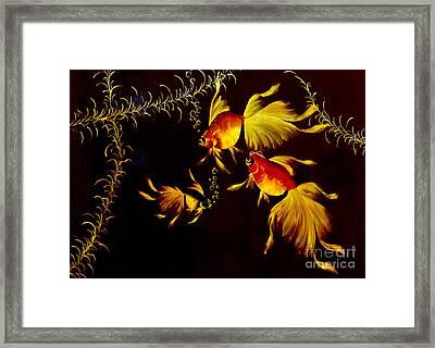 Something Is Fishy Here Framed Print by Al Bourassa