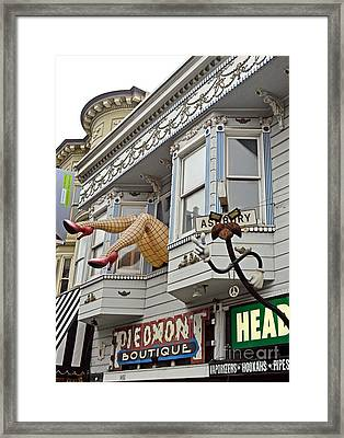 Something To Find Only The In The Haight Ashbury Framed Print by Jim Fitzpatrick