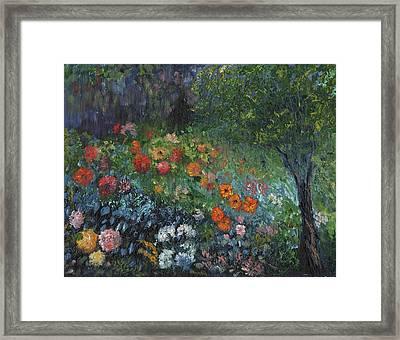 Somewhere A Garden Framed Print by William Killen