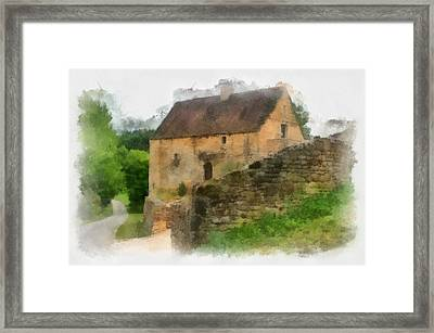 Somewhere In France Framed Print by Georgia Fowler