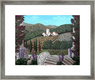Somewhere In Tuscany Framed Print by Gerry High