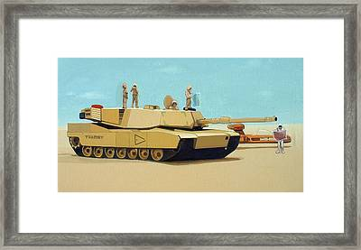 Somewhere Outside Baghdad Framed Print by Scott Listfield
