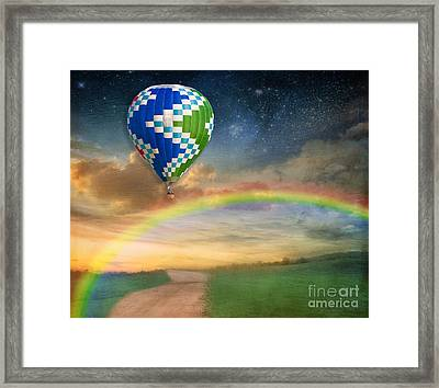 Somewhere Over The Rainbow Framed Print by Juli Scalzi