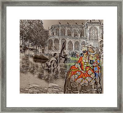 Somov Collage From Dreams Framed Print by Yury Bashkin