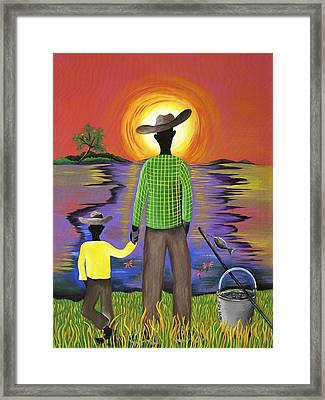 Son Raise Framed Print by Patricia Sabree