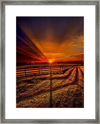 Song Of The Setting Sun Framed Print by Phil Koch