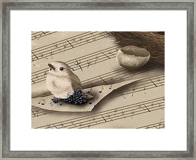 Songbird Framed Print by Veronica Minozzi
