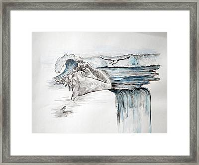 Sonido Del Mar Framed Print by Gladiola Sotomayor