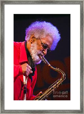 Sonny Rollins On Sax Framed Print by Craig Lovell