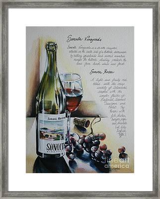 Sonoita Vineyards Framed Print by Alessandra Andrisani