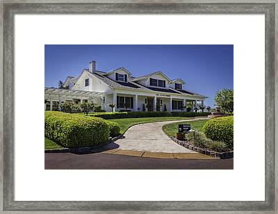Sonoma Valley Winery Framed Print by Karen Stephenson