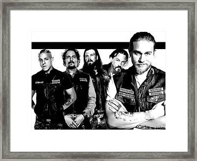 Sons Of Anarchy Framed Print by Anibal Diaz