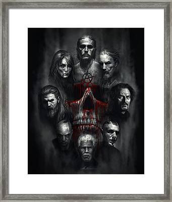 Sons Of Anarchy Tribute Framed Print by Alex Ruiz