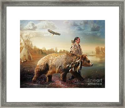 Sons Of The Earth Framed Print by Trudi Simmonds