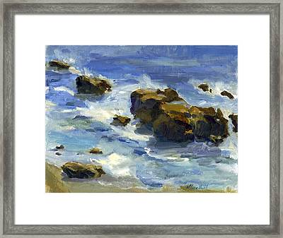 Soothed By The Sea Framed Print by Maria Hunt