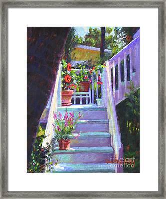 Soozi's Steps  Framed Print by Candace Lovely