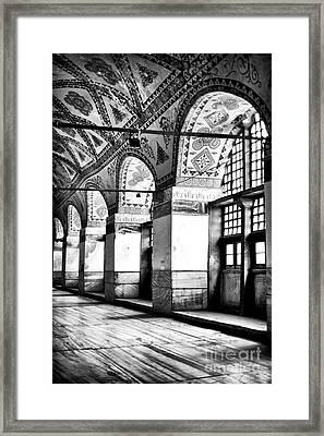 Sophia Columns Framed Print by John Rizzuto