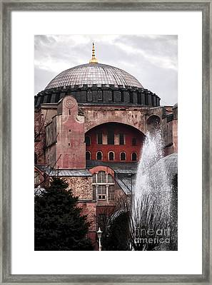 Sophia Fountain Framed Print by John Rizzuto