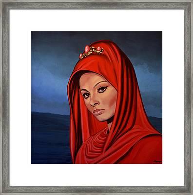 Sophia Loren Framed Print by Paul Meijering