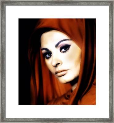 Sophia Loren Framed Print by Georgiana Romanovna