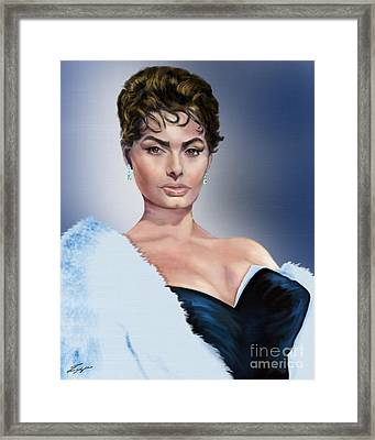Sophia - Total Package Framed Print by Reggie Duffie