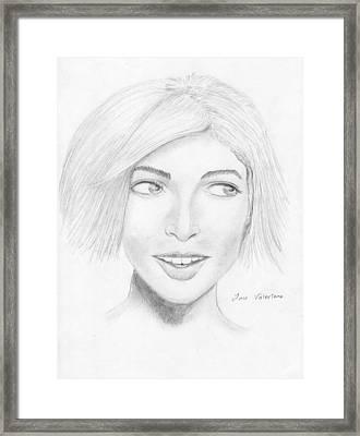 Sophie Framed Print by M Valeriano