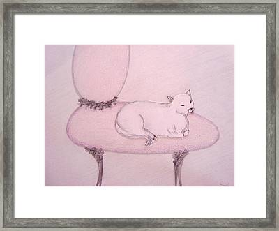 Sophisticated Cat Framed Print by Christine Corretti