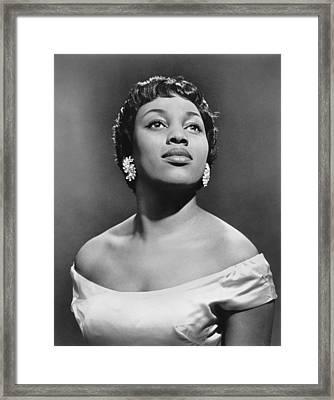 Soprano Leontyne Price Framed Print by Underwood Archives