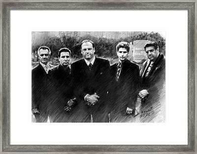 Sopranos James Gandolfini Framed Print by Viola El