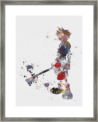 Sora Framed Print by Rebecca Jenkins