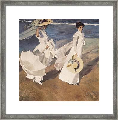 Sorolla, Joaqu�n 1863-1923. Walk Framed Print by Everett