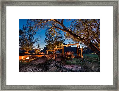 Sorrel River Ranch Resort Framed Print by Michael J Bauer