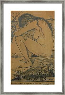 Sorrow, 1882 Pencil, Pen And Ink Framed Print by Vincent van Gogh