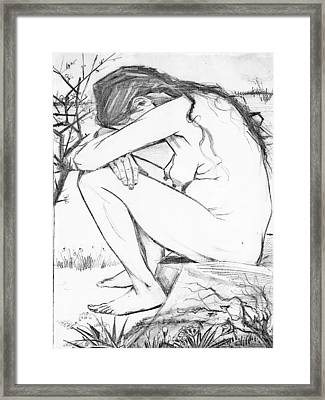 Sorrow After Vincent Van Gogh  Framed Print by Tracey Harrington-Simpson