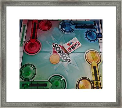 Sorry Board Game Framed Print by Dan Sproul