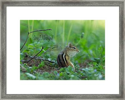 Sorry I Missed You Framed Print by Everet Regal