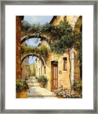 Sotto Gli Archi Framed Print by Guido Borelli