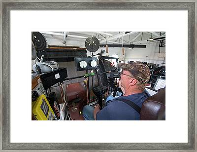 Soudan Mine Hoist Framed Print by Jim West