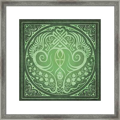 Soul Mates - Green Framed Print by Cristina McAllister