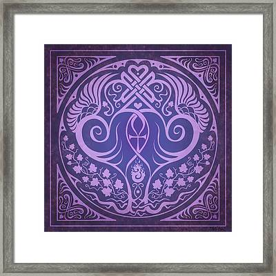 Soul Mates - Purple Framed Print by Cristina McAllister